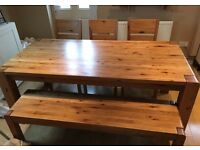 Oak table and bench bargain!
