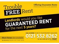 Landords, Do you want GUARANTEED RENT for upto 5 years?