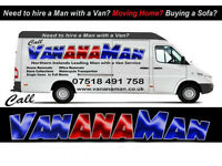 MAN AND VAN SERVICE for Hire, Removals, Sofas, Store pick ups, craigavon,Armagh, Lisburn,Belfast