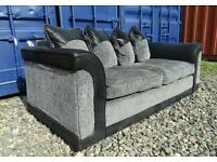 Black+Grey 3+2 Seater Sofas *Free Delivery*