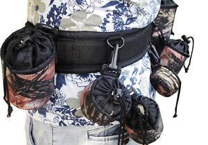 Multi-function Adjustable Camera Waist Padded Belt Lens Case Pouch Bag Holder
