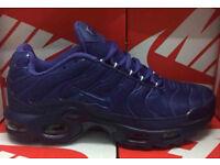 Brand New Nike Air Max PLUS TN ALL BLUE/TRIPPLE BLUEsize uk 6 TO 11
