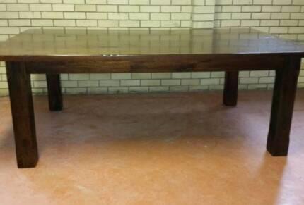 Mangowood dining table seats 12, stunning.,2.2mx1.3m