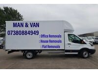CHEAP MAN AND VAN REMOVALS HOUSE/FLAT/OFFICE 7.5 TONNE TRUCK HIRE WITH DRIVER RUBBISH CLEARENCE