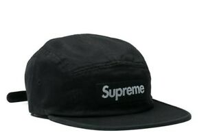 fe12032cb78 Supreme washed chino twill camp cap - black