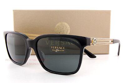 Brand New VERSACE Sunglasses VE 4307 GB1/87 BLACK/SOLID GRAY Women Men Unisex