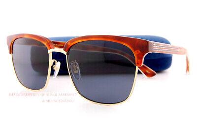 Brandneu Gucci Sonnenbrille Gg 0382/ S 005 Havanna Gold/Grau für Männer