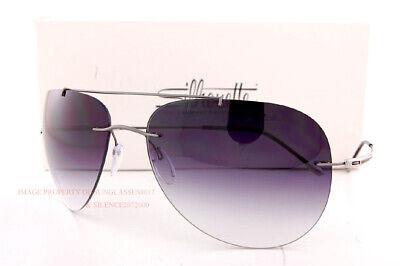 New Silhouette Sunglasses Adventurer 8721 6560 Ruthenium/Gray Gradient Titanium (Adventure Sunglasses)