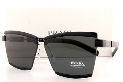 Brand New Prada Sunglasses PR 61XS 1AB 5S0  Black/Dark Gray For Women