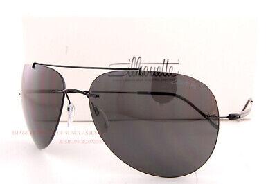 New Silhouette Sunglasses Adventurer 8721 9140 Black/Gray Polarized Titanium (Adventure Sunglasses)