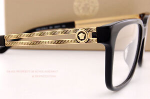 brand new versace eyeglass frames 3218 gb1 black women men 100 authentic sz 55