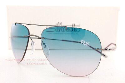 New Silhouette Sunglasses Adventurer 8142 6258 Ruthenium/Blackberry/Teal (Adventure Sunglasses)