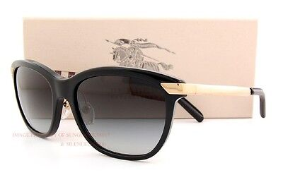 99160774ee4 Brand New Burberry Sunglasses BE 4169Q 3001 8G BLACK GRAY 100% Authentic  Item Number  291239707540