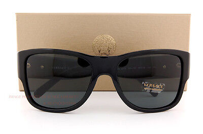 30afc599479b4 Brand New VERSACE Sunglasses VE 4275 GB1 81 BLACK GRAY Polarized Men Women