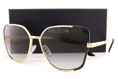 Brand New Prada Sunglasses PR 60XS AAV 0A7  Black Gold/Grey Gradient For Women