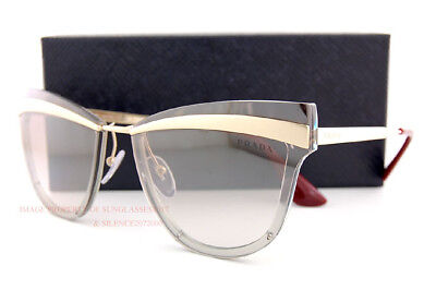 Brand New Prada Sunglasses PR 12US KNG 4O0 Gold Brown/Brown Silver Mirror