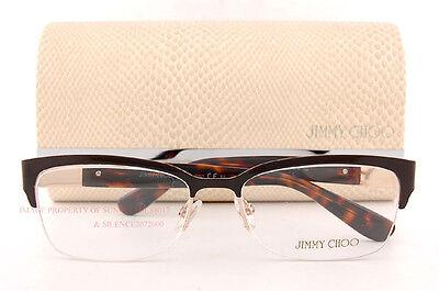 ad01546e885 Brand New Jimmy Choo Eyeglass Frames 86 8TM Brown Havana For Women