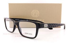 7e8f1404b3 Brand New VERSACE Eyeglass Frames 3198 GB1 for Men BLACK 100% Authentic SZ  55