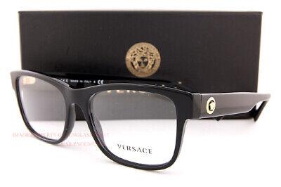 Brand New VERSACE Eyeglass Frames 3266 GB1 Black For Men Women