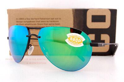 New Costa Del Mar Fishing Sunglasses HELO Matte Black Titanium Frames Green (Costa Sunglasses For Fishing)