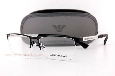 Brand New EMPORIO ARMANI Eyeglass Frames 1041 3094 Black/White Men Size (White Eyeglass Frames For Men)
