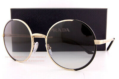 Brand New Prada Sunglasses PR 59XS AAV 0A7  Black Gold/Grey Gradient For Women