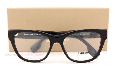 Brand New BURBERRY Eyeglass Frames BE 2301 3001 Black For Women Size (Eyeglass Frames Burberry)