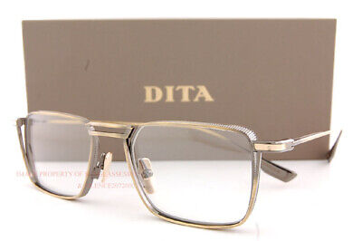 Brand New DITA Eyeglass Frames LINDSTRUM DTX 125-51-02 Antique White Gold (Mens White Eyeglass Frames)