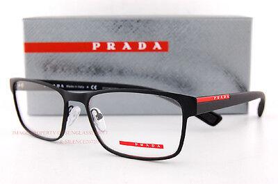 New Prada Sport Linea Rossa Eyeglass Frames PS 50G 50GV DG0 BLACK 55mm Men (Sport Frames)