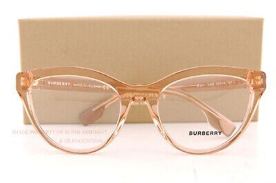 Brand New BURBERRY Eyeglass Frames BE 2311 3358 Transparent Peach For Women (Burberry Eyeglass Frames For Women)