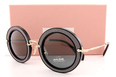 Brand New Miu Miu Sunglasses MU 08RS VIE9K1 Black/Grey Women