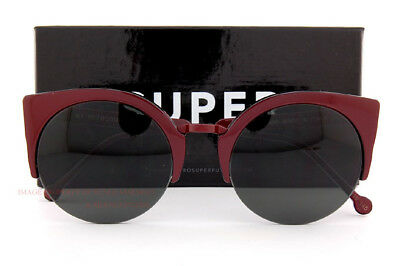 New SUPER by RETROSUPERFUTURE sunglasses Lucia 0FW/R Burgundy Lens by Zeiss