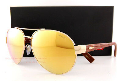 Brand New Chopard Sunglasses SCH B35V 300G Rose Gold/Gold Mirror For Men (Chopard Sunglasses For Women)
