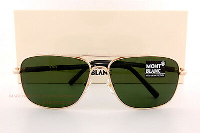 Brand New MONT BLANC Sunglasses MB 508S 508 28N Gold/Dependable Green for Men
