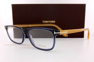 Brand New Tom Ford Eyeglass Frames 5356 090 Blue Size 55mm Men Women