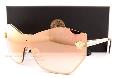Brand New VERSACE Sunglasses VE 2182 1252/6F Gold/Gold Mirror For Women