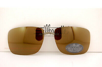 New Silhouette Eyeglasses Clip-on Style Shades B1 08 BROWN POLARIZED SZ (Silhouette Clip On Sunglasses)