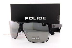 Brand New POLICE Sunglasses S 8955M 531X  Matte Black/Smoke Mirror Silver