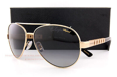 New Chopard Sunglasses SCH B12 300P Gold Black Gradient Grey For Men f1f6c76068d