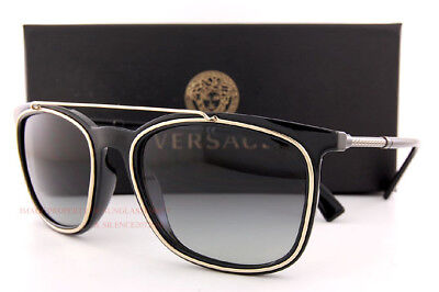 Brand New VERSACE Sunglasses VE 4335 GB1/11 Black/Gray Gradient For Men Women