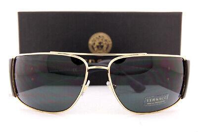 Brand New VERSACE Sunglasses VE 2163 100287 Gold Black/Gray For Men