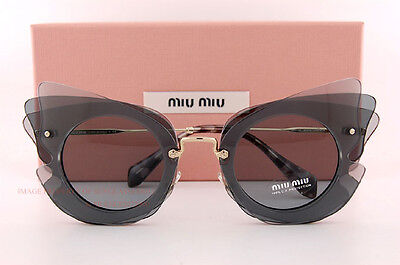 Brand New Miu Miu Sunglasses MU 02SS VA4 3C2 Dark/Light Grey/Blue Women