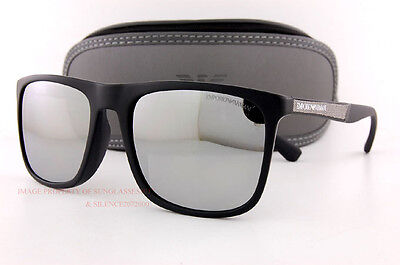 Brand New EMPORIO ARMANI Sunglasses 4097 5042/Z3 Black/Silver Mirror for Men