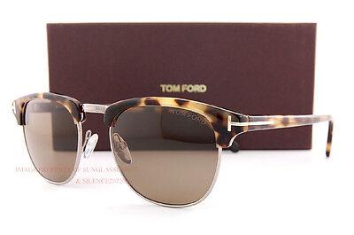Brandneu Tom Ford Sonnenbrille Henry ft 248 Henry Farbe 55J Havana/Roviex
