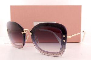f15904a4d86e Brand New Miu Miu Sunglasses MU 02T 02TS 86L NJ0 Dark Violet Glitter Gray