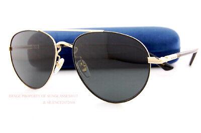 Brandneu Gucci Sonnenbrille Gg 0388/ Sa 001 Schwarz Gold/Grau für Männer