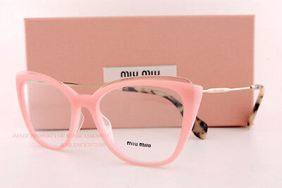 7af54a4a98 Brand New Miu Miu Eyeglass Frames MU 02QV VYB Pink Gold Women Size 53
