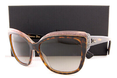 Brand New Christian Dior Sunglasses Glisten 2/S 0E59 HA Havana/Brown For Women