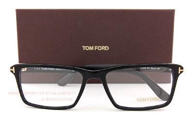 Brandneu Tom Ford Brille Rahmen 5408 001 Schwarz für Herren Frauen Größe 56 Mm