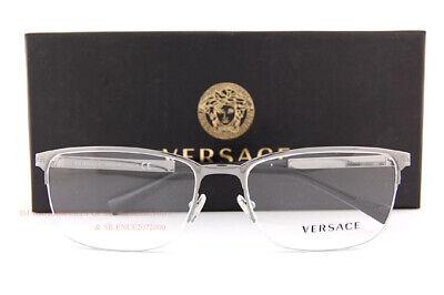 Brand New VERSACE Eyeglass Frames VE 1263 1001 Gunmetal For Men Size (Versace Eyeglass Frames Men)